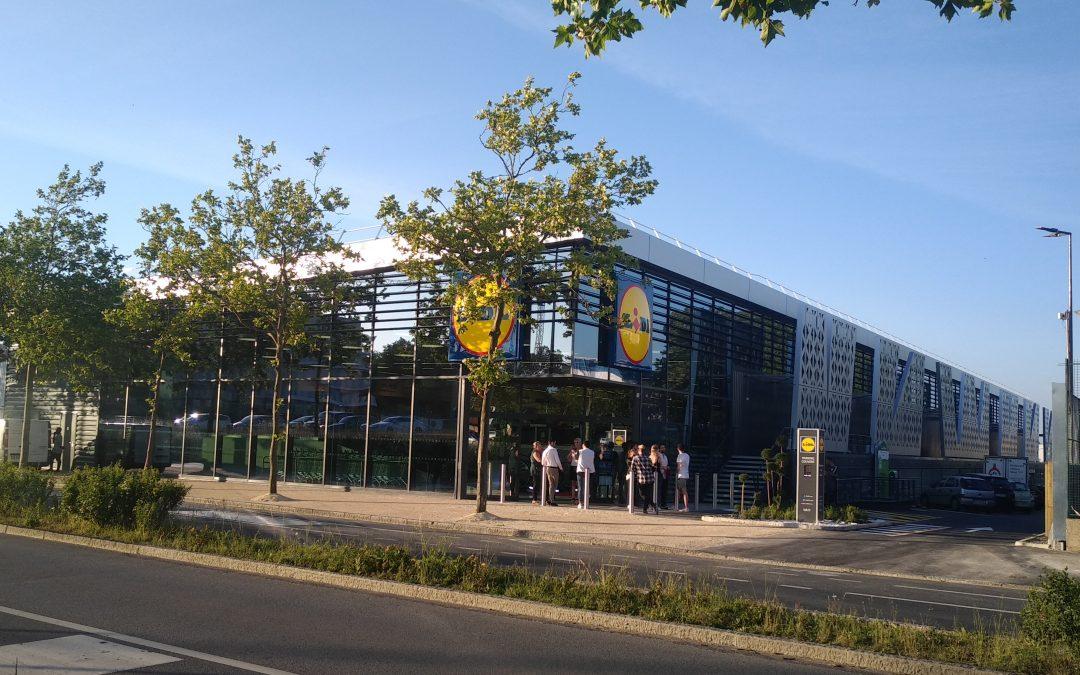 Inauguration du LIDL de NANTES Beaujoire
