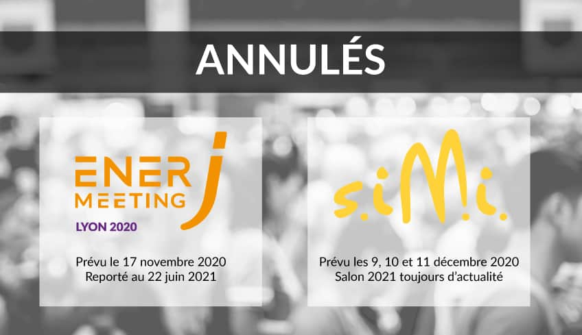Annonce report salons 2020